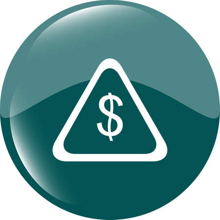 web icon cloud with dollars money sign photo