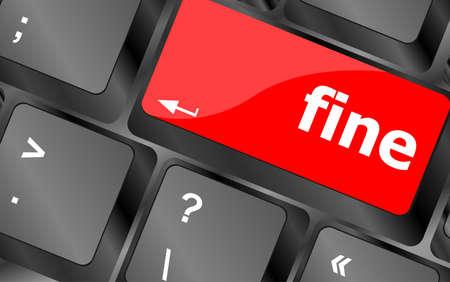 button computer: fina palabra clave en el teclado el bot�n, el ordenador port�til Foto de archivo