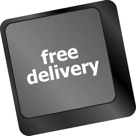 free delivery key on laptop keyboard keys photo