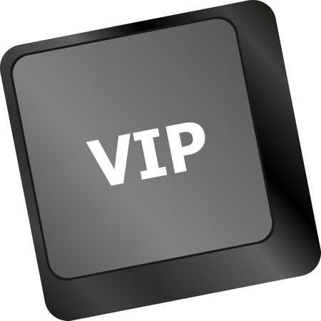 VIP written button keys on computer keyboard photo