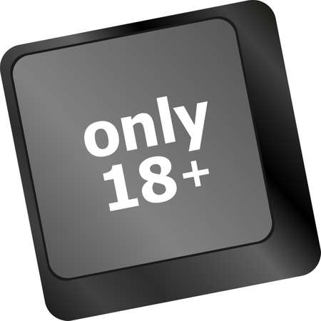 not permitted: only 18 plus button on keyboard with soft focus