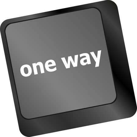 one way button on computer keyboard pc key photo