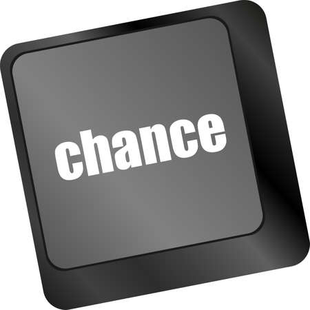 chance button on computer keyboard key photo