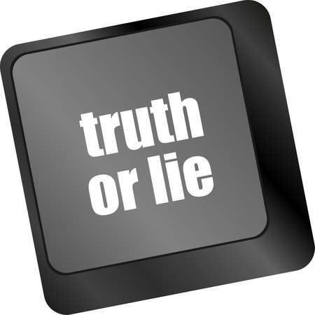 truth or lie button on computer keyboard key photo