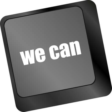 we can button on computer keyboard key photo
