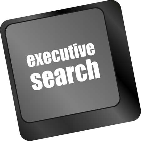 executive search button on the keyboard close-up, raster photo