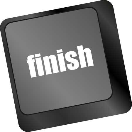 finish button on black internet computer keyboard photo