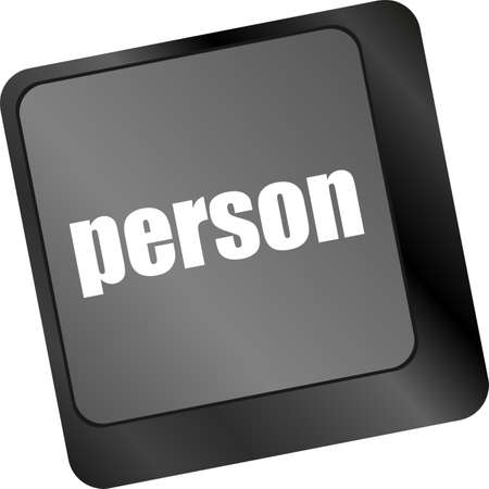 word person on computer keyboard key photo