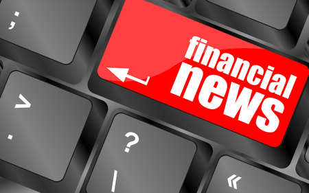 financial news button on computer keyboard photo