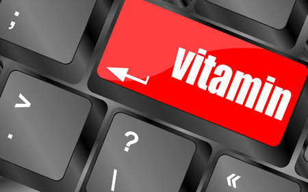 vitamin word on computer keyboard pc key, photo