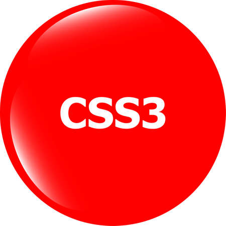 css: css style web icon isolated on white, web icon