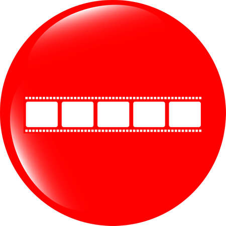 film strip icon glossy button photo
