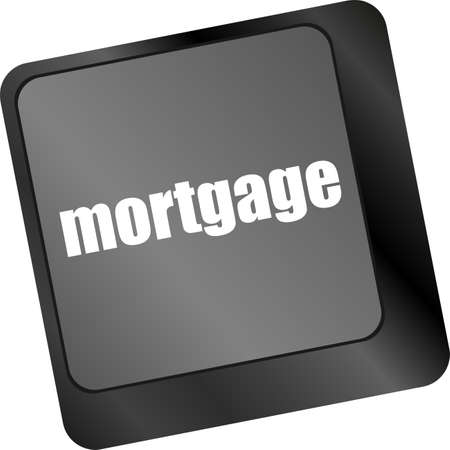 Keyboard with single button showing the word mortgage photo