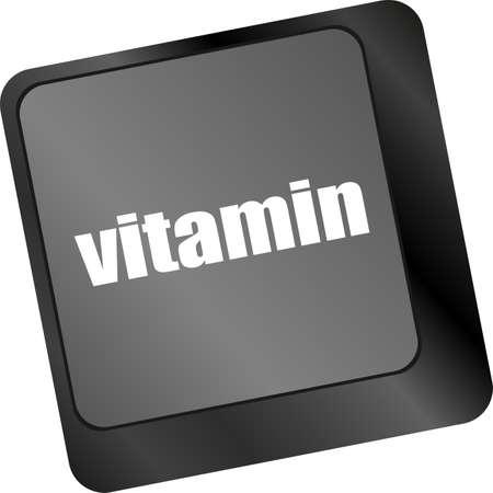 vitamin word on computer keyboard pc key photo