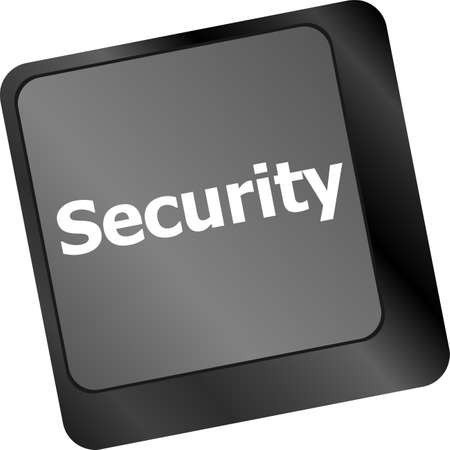 security button on the keyboard key, business concept photo
