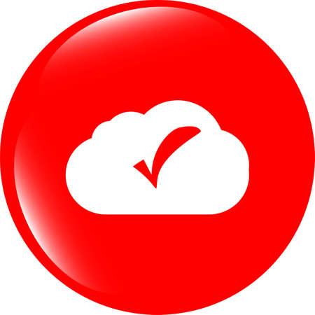 speech bubbles cloud with check mark web icon photo