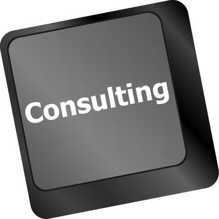 keyboard with key consulting, business concept photo