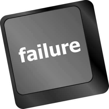 failure concept with word on keyboard key photo