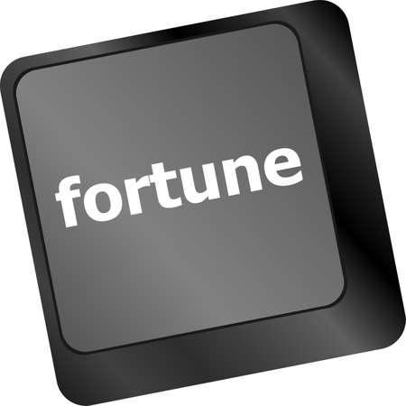 Fortune for investment concept with button on computer keyboard photo