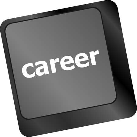 career button on the keyboard - business concept photo