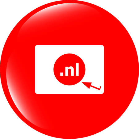 nl: Domain NL sign icon. Top-level internet domain symbol Stock Photo