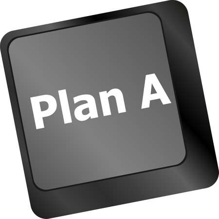 Plan A key on computer keyboard - internet business concept photo