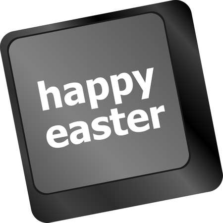 ostern: happy Easter text button on keyboard