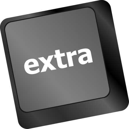 Computer keyboard key - Extra word on it photo