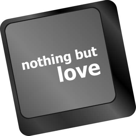 nothing: Computer keyboard key - nothing but love Stock Photo