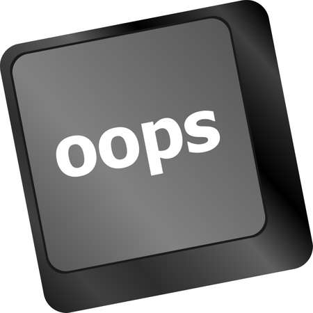 omission: The word oops on a computer keyboard Stock Photo