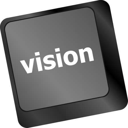 business vision concept with key on computer keyboard photo