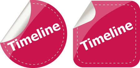 timeline Labels, stickers, pointers, tags for your (web) page photo