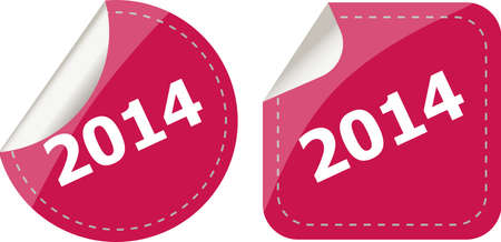 2014 on stickers button set, business label photo