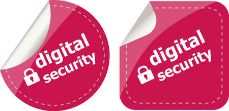 digital security stickers label tag set photo