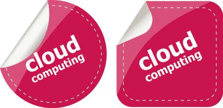 Stylish cloud speech bubble, cloud computing concept photo