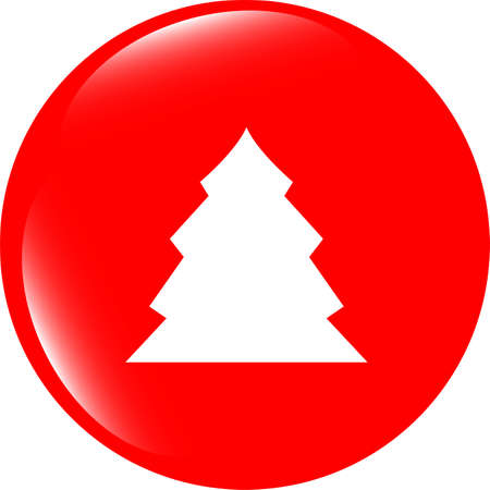icey: button with christmas tree on it