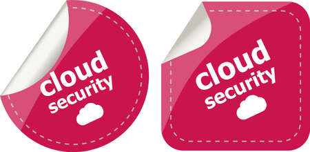 access control: cloud security stickers label tag set isolated on white Stock Photo