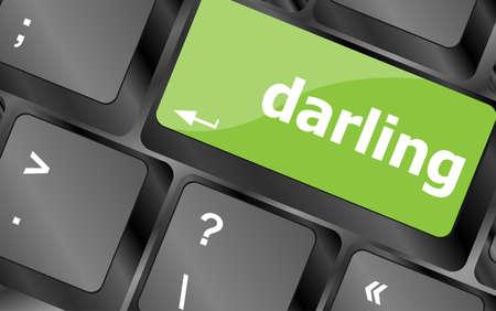 darling button on computer pc keyboard key photo