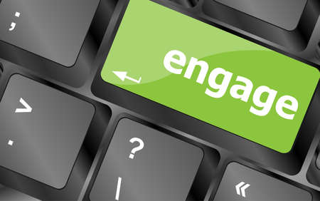 web engagement: engage button on computer pc keyboard key