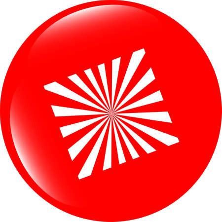 Sun Icon on Round Black Button Collection Original Illustration illustration