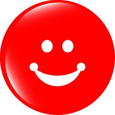 smile icon: Smile icon glossy button