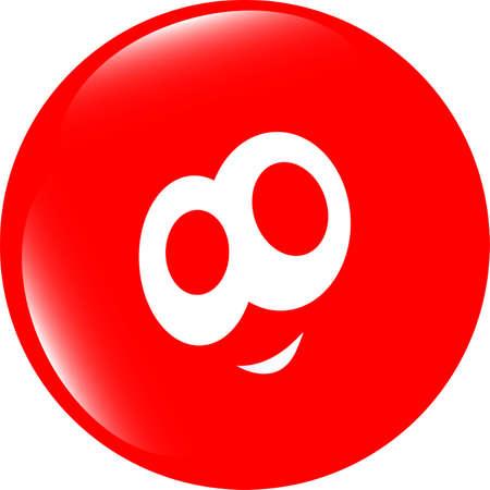 smiley face icon: smiley face icon button, funny face for web