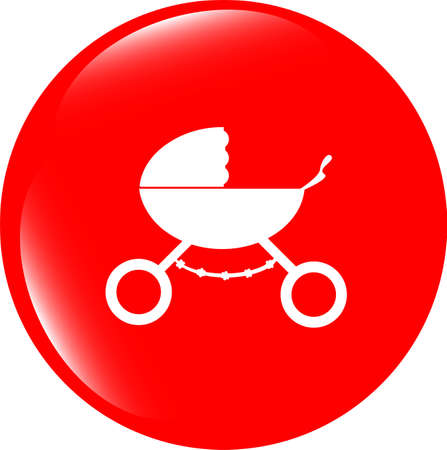 stroller icon in mode photo