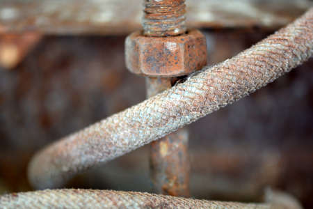 Detail of rusted chain photo