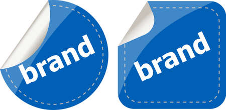brand Labels, stickers, pointers, tags for your (web) page photo