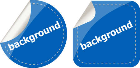 background word on stickers button set, label photo