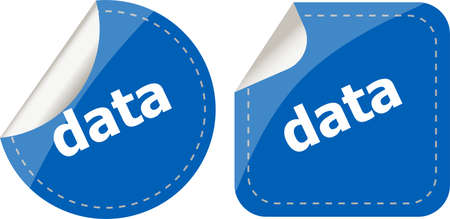 data word stickers web button set, label, icon photo