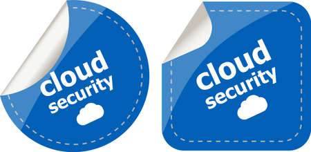 cloud security stickers label tag set isolated on white photo