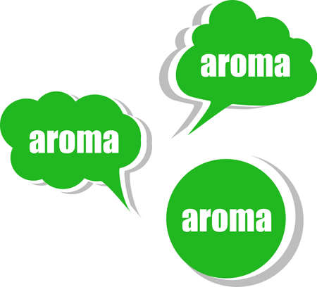 aroma. Set of stickers, labels, tags. Template for infographics photo