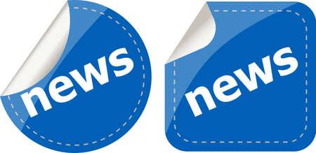 news stickers set, icon button isolated on white photo